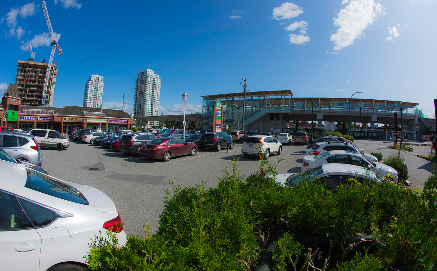 Skytrain terminal traffic