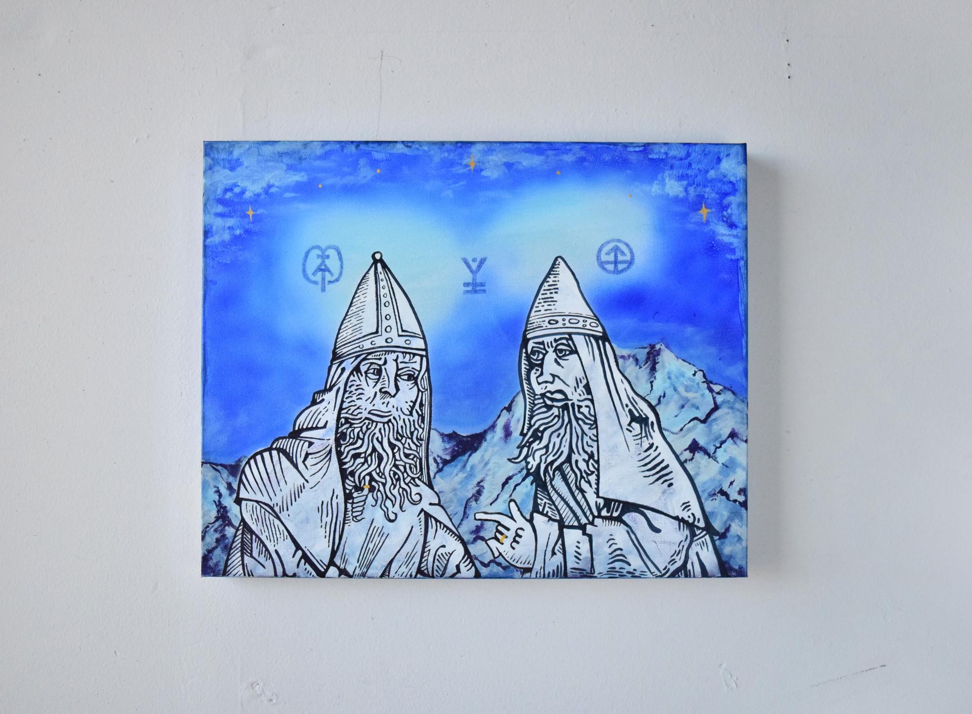 Philosophers Discuss Mountaintops