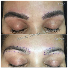 Thick Brown Black Microbladed Brows