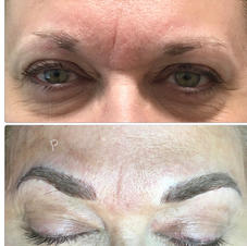Dark Ash Brown Microbladed Brows