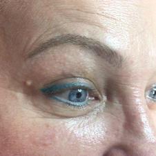 Ice Blue Eyeliner & Hair-Stroke Brows Healed
