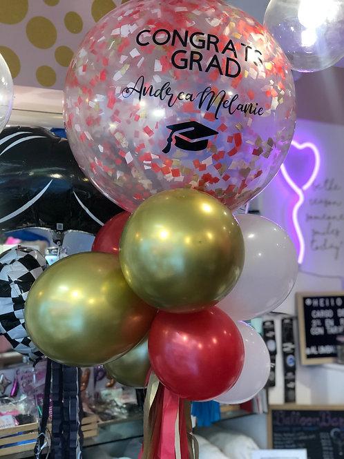 Confetti + 7 balloons
