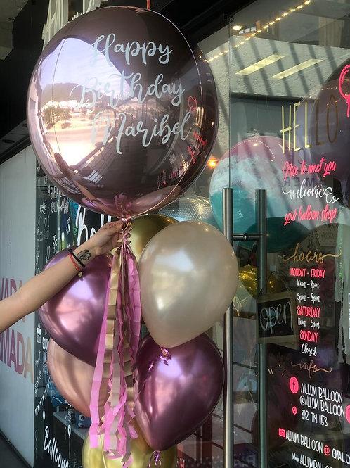 Esfera Jumbo + baby balloons