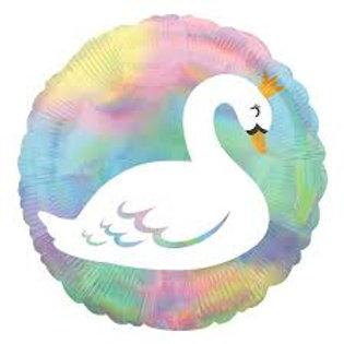 Swan rainbow holographic