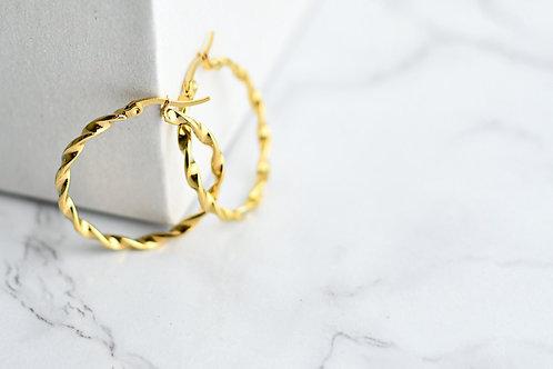Trenza Gold Hoop
