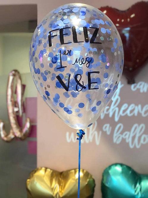 Baby Balloon con confeti