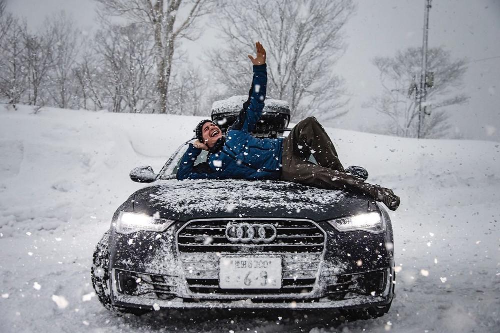 Jérémie vient de signer un partenariat avec Audi
