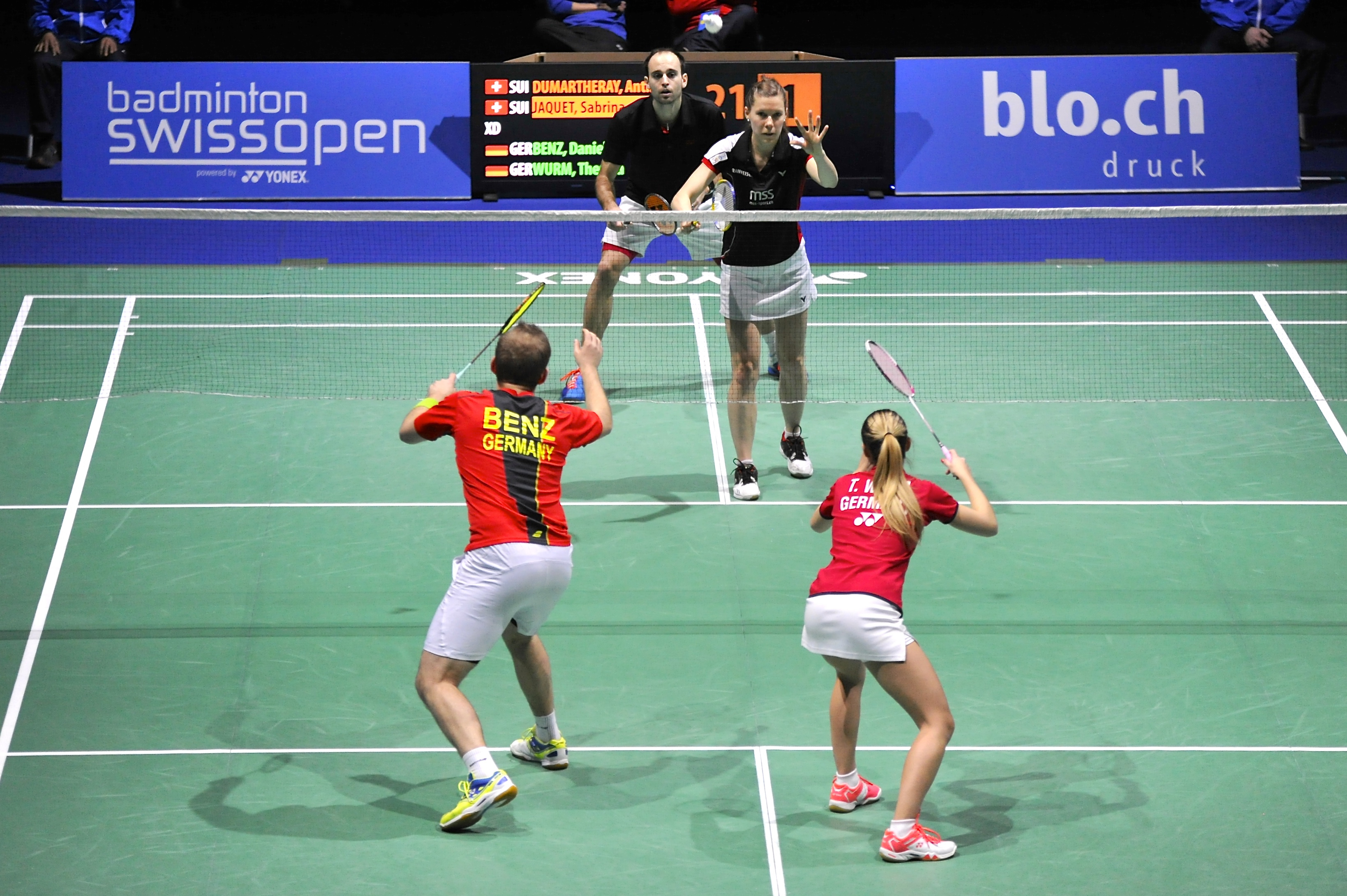 Nathalie Tardy, Swiss Open 2016 (double mixte)-9