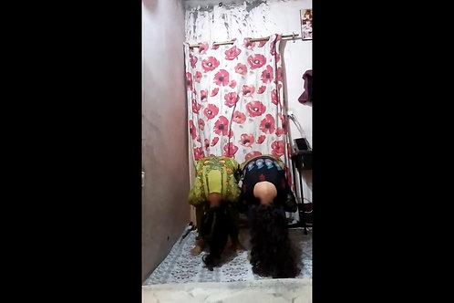 Reena & Teena in Murga Position