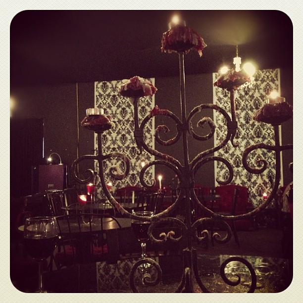 #candle #light #chandelier #music #melbourne #wine #room #dark #gothic #metal #design