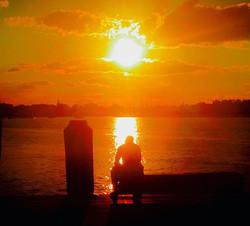 #sunset, #portmacquarie #thinking #sea #ocean #nsw #australia