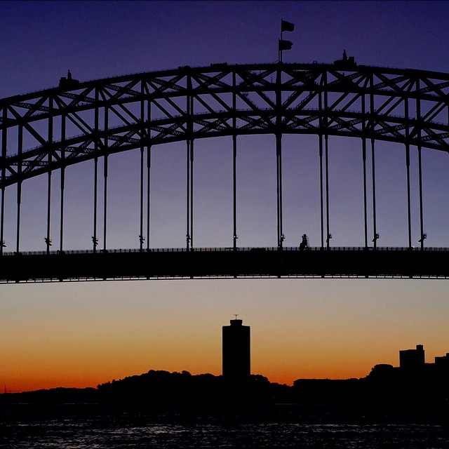 #sunset #bridge #harbour #ferry