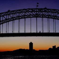 #sunset #bridge #harbour #ferry