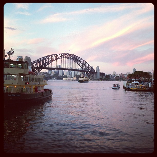 #sydney #australia #harbourbridge #bridge #harbour #nsw #sunset #sky