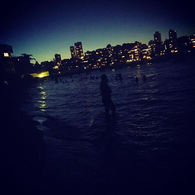 #sydney #night #beach #ocean #city #australia #ozzy