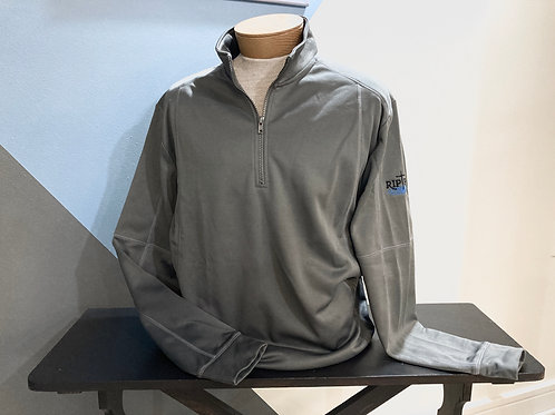 Grey Quarter-Zip Collar Pull Over