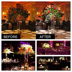 Pin Spot Lighiting On Centerpieces