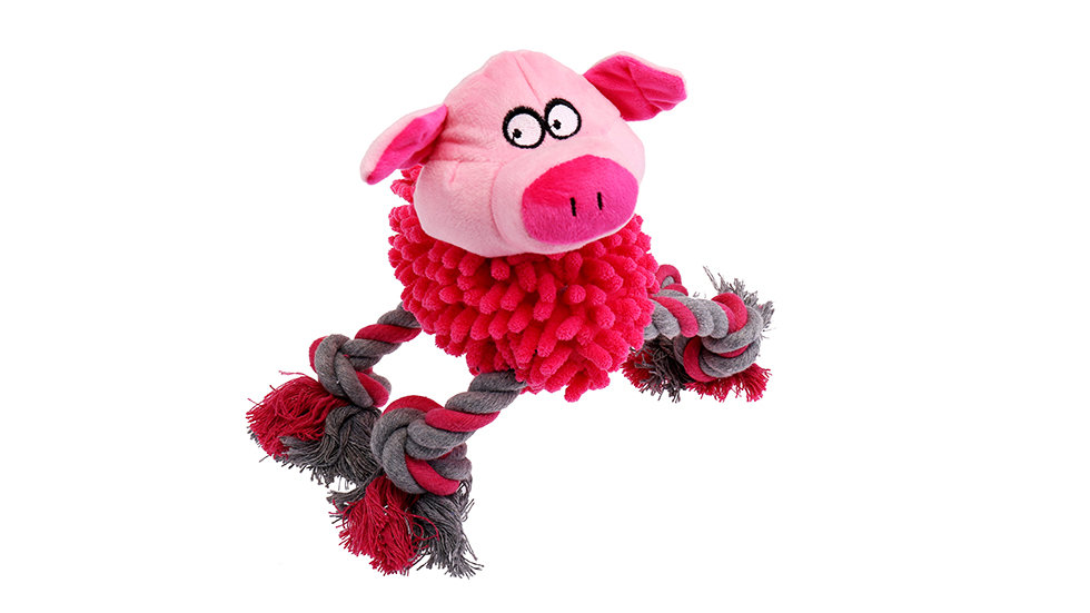Pig mopping toy  with squeaker