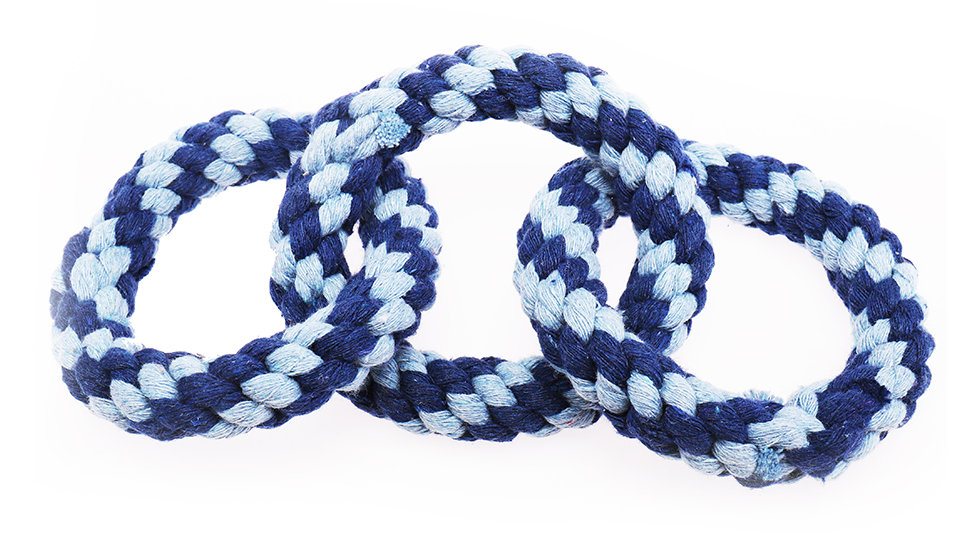 Three circles cotton rope