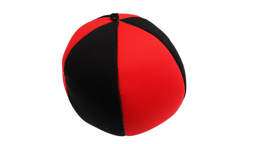 Black and red floating ball
