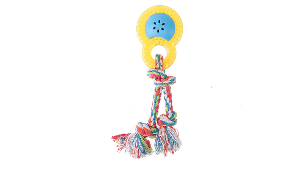 Colorful rope with TPR toy