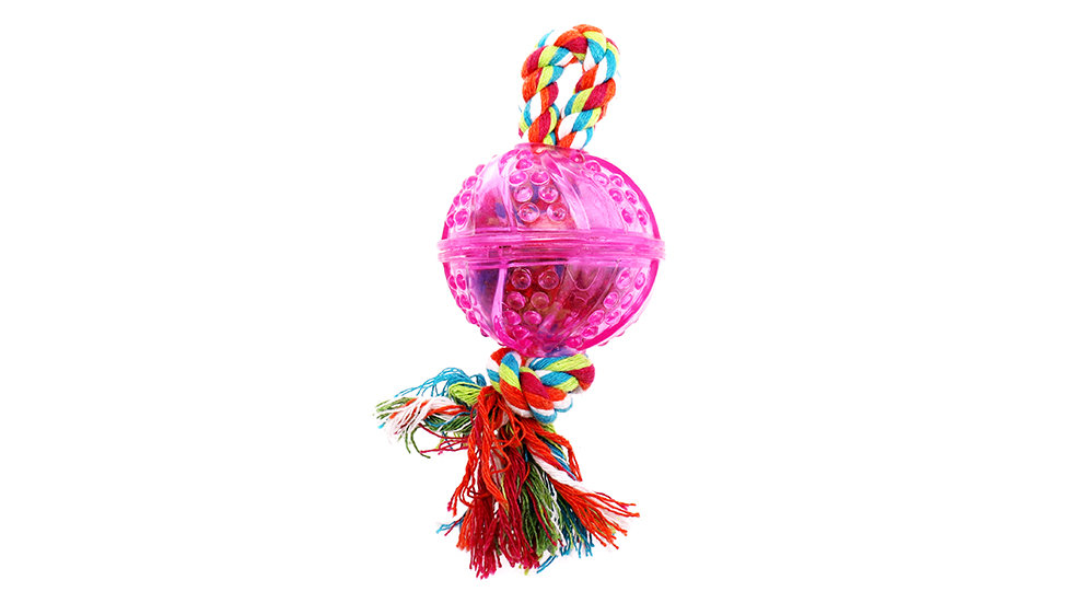 Colorful rope with TPR ball