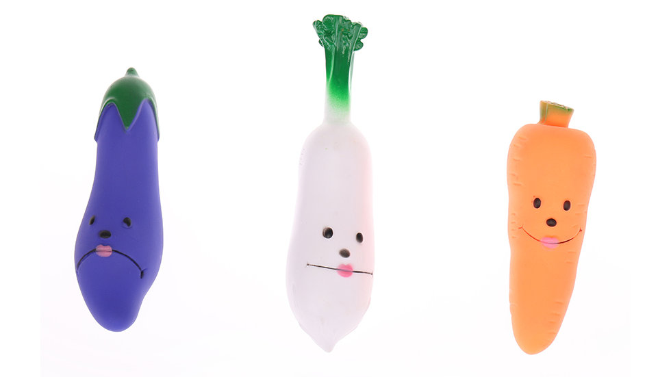 vinyl eggplant, ternip,carrot