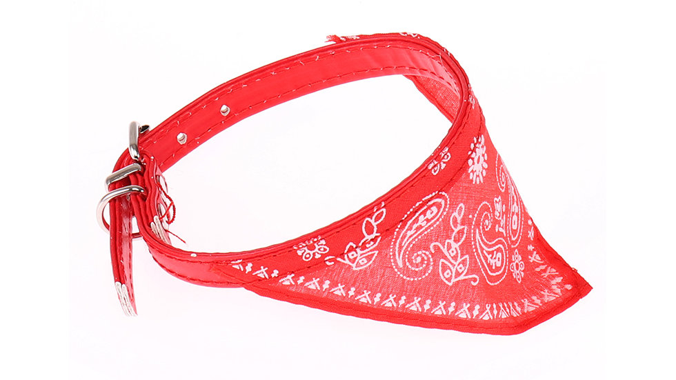 Bandana leather pet collar