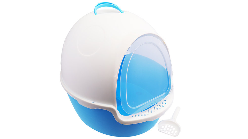 Beetle shaped cat litter box with scoop