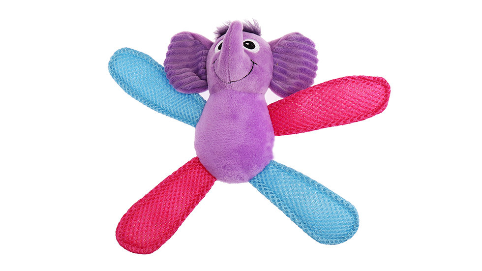 Plush toy with sound sheet in hands and feet
