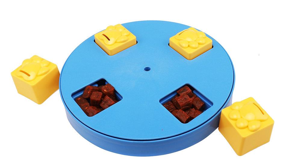 Dog IQ training disk feeder