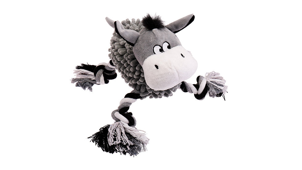 Cow mopping toy with squeaker