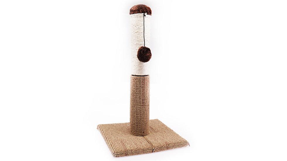 21'' carpet&sisal scratcher with plush catnip ball
