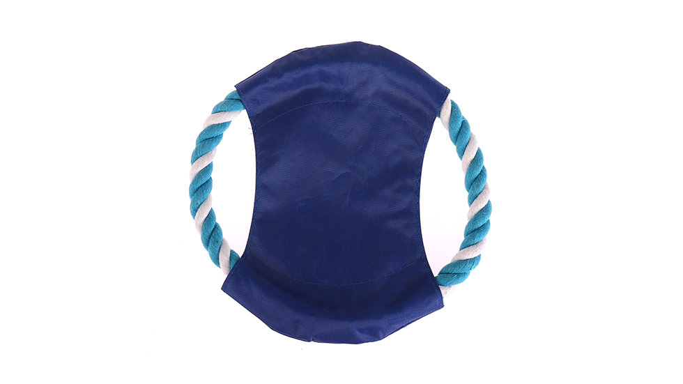 Cotton rope and Oxford fabric dog frisbee
