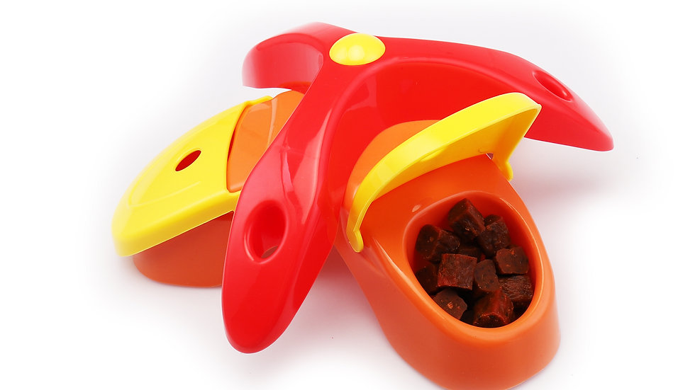 Three-corner  dog IQ training toys