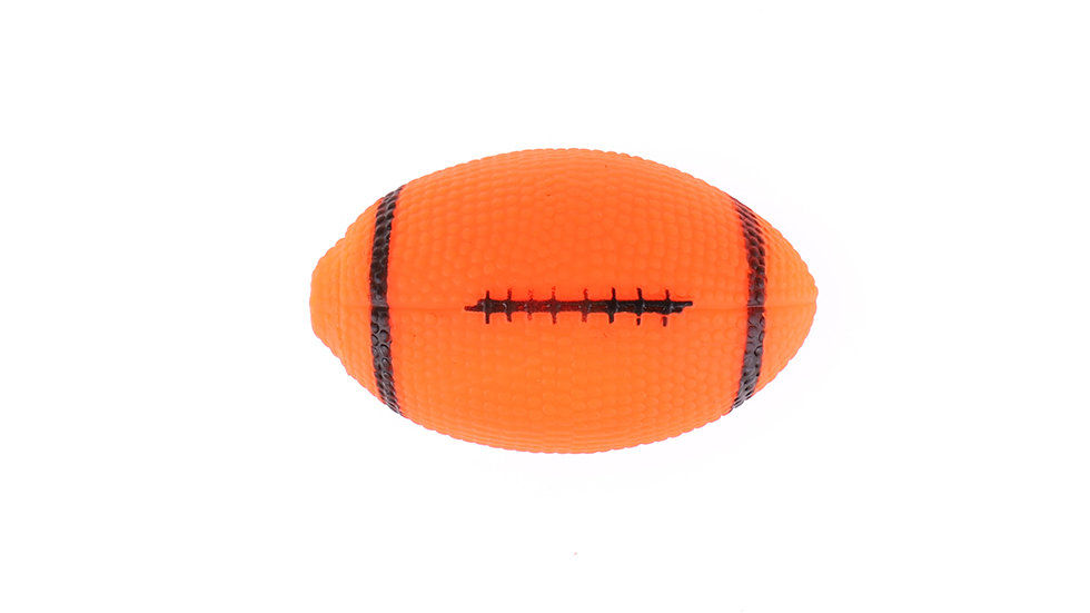 Vinyl rugby Toy with squeaker