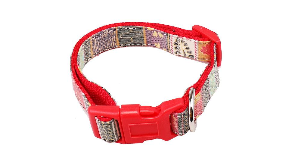 Colorful reflective webbing collar
