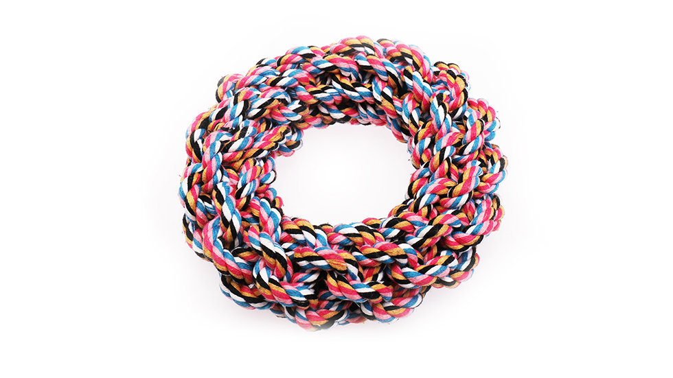 Cotton rope ring  toy