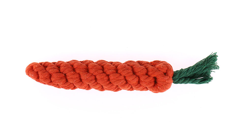 Carrot rope toy