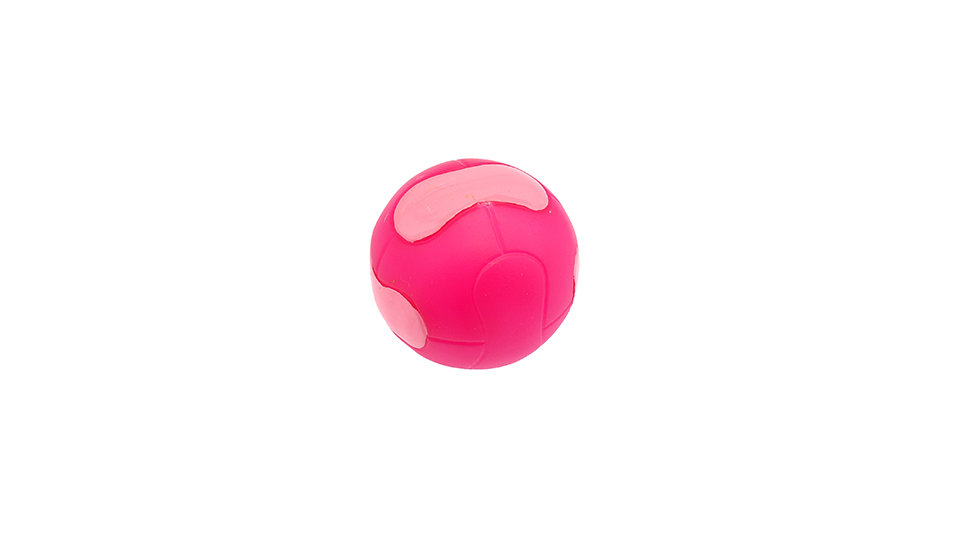 Rubber ball with squeaker