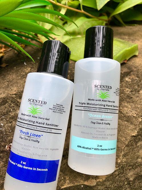 Set of 4 Aloe Vera Moisturizing Hand Sanitizer