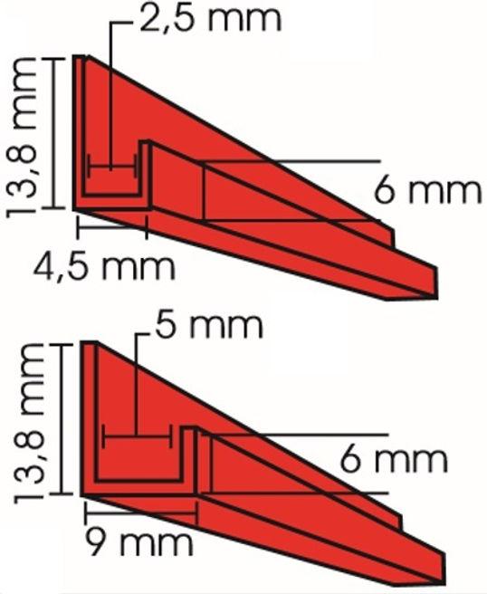 Perfil j para placas de plástico