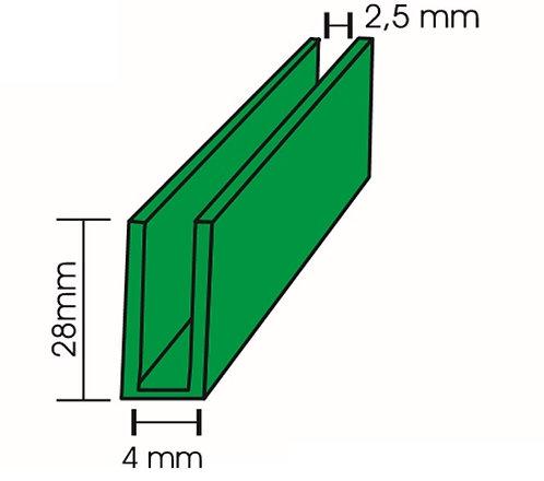 Perfil U 28x4