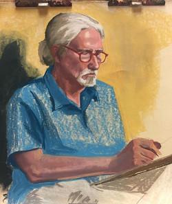 A pastel portrait of a pastel artist! Jo