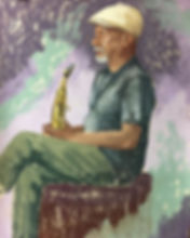 The Jazz Musician - 18x24 pastel on pape