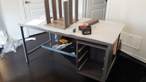 desk with drawers assembly