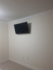 TV wall mount installation and Wire Concealment