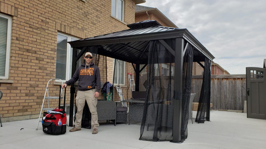 COSTCO gazebo installation