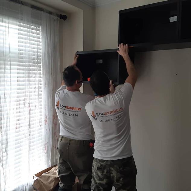 IKEA TV unit installation