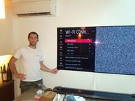 LG  OLED TV installation